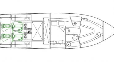 моторна лодка Schaefer 303 - план