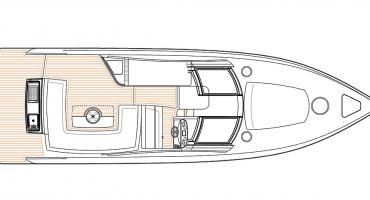 моторна лодка Schaefer 365 - план