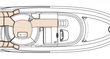 Луксозна яхта Schaefer 400 - план