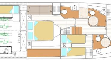 Луксозна яхта Schaefer 510 - план