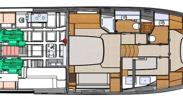Луксозна яхта Schaefer 580 - план