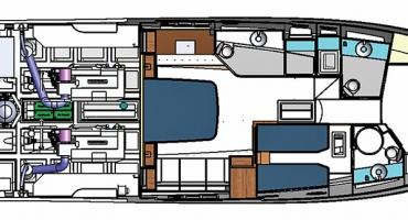 Луксозна яхта Schaefer 640 - план