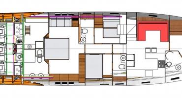 Луксозна яхта Schaefer 830 - план